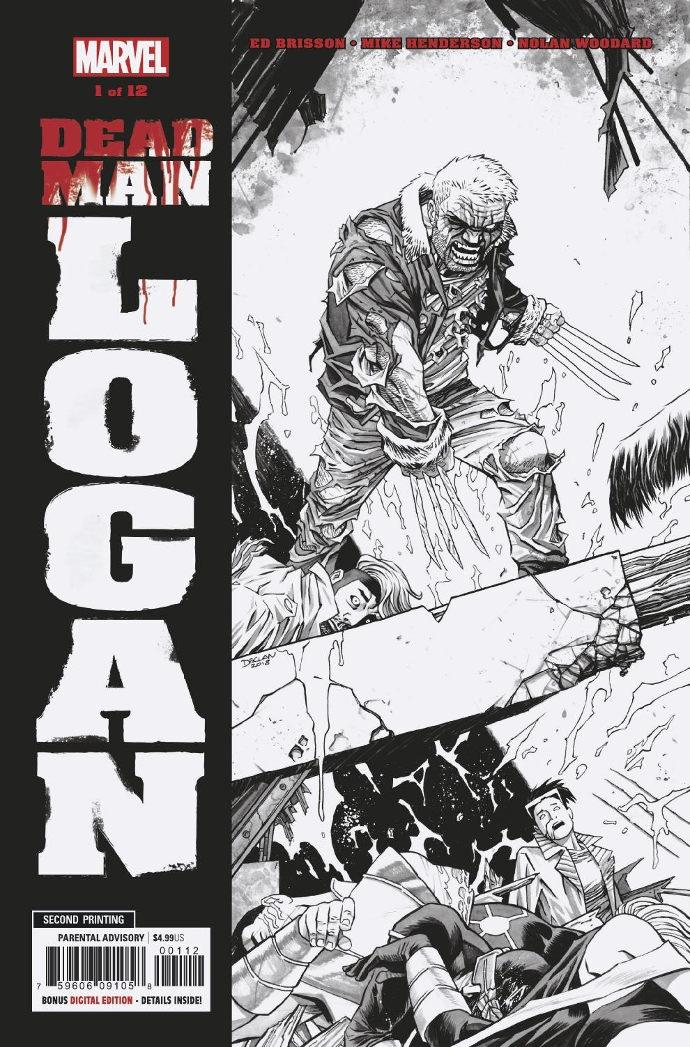 DEAD MAN LOGAN #1 (OF 12) 2ND PTG HENDERSON VAR