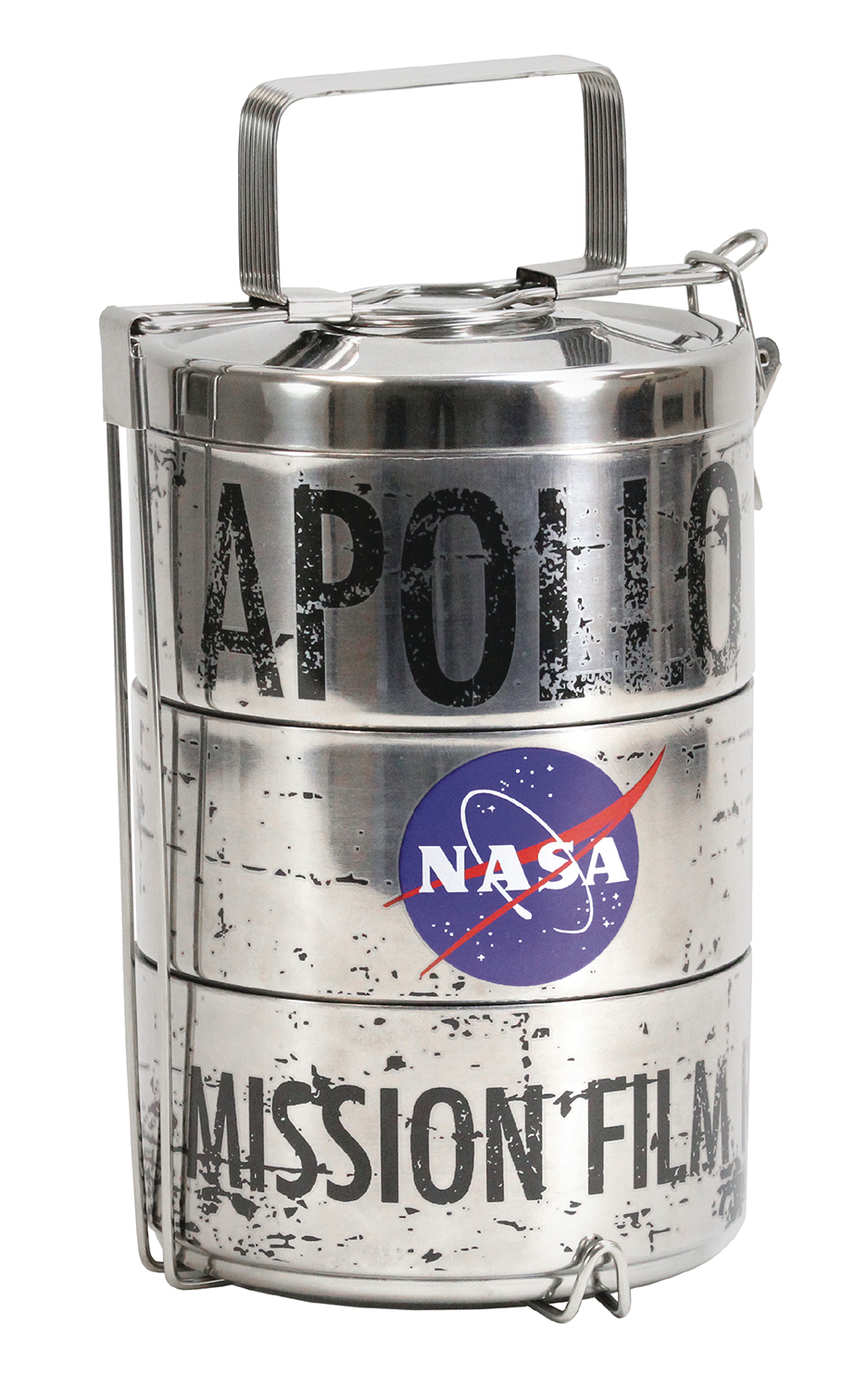 NASA APOLLO MOON LANDING FILM CANISTER LUNCH TINS