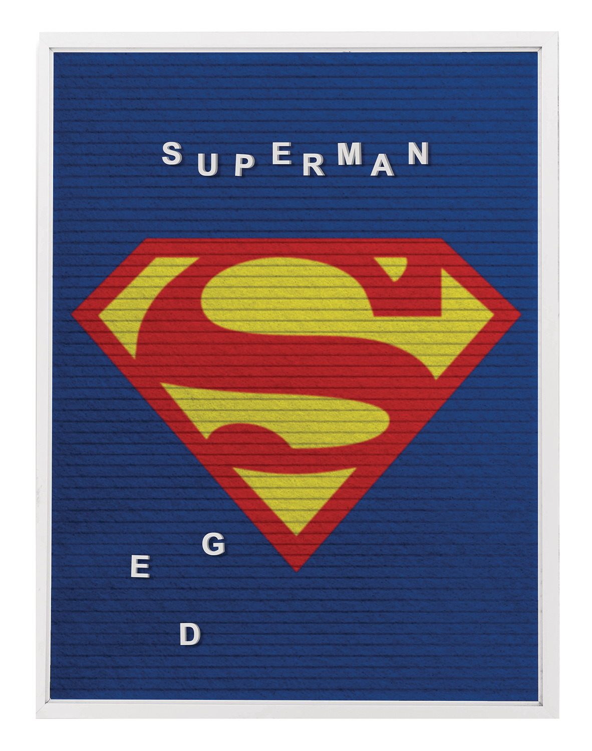 DC SUPERMAN 13X17.5 IN  FELT LETTER BOARD WALL ART