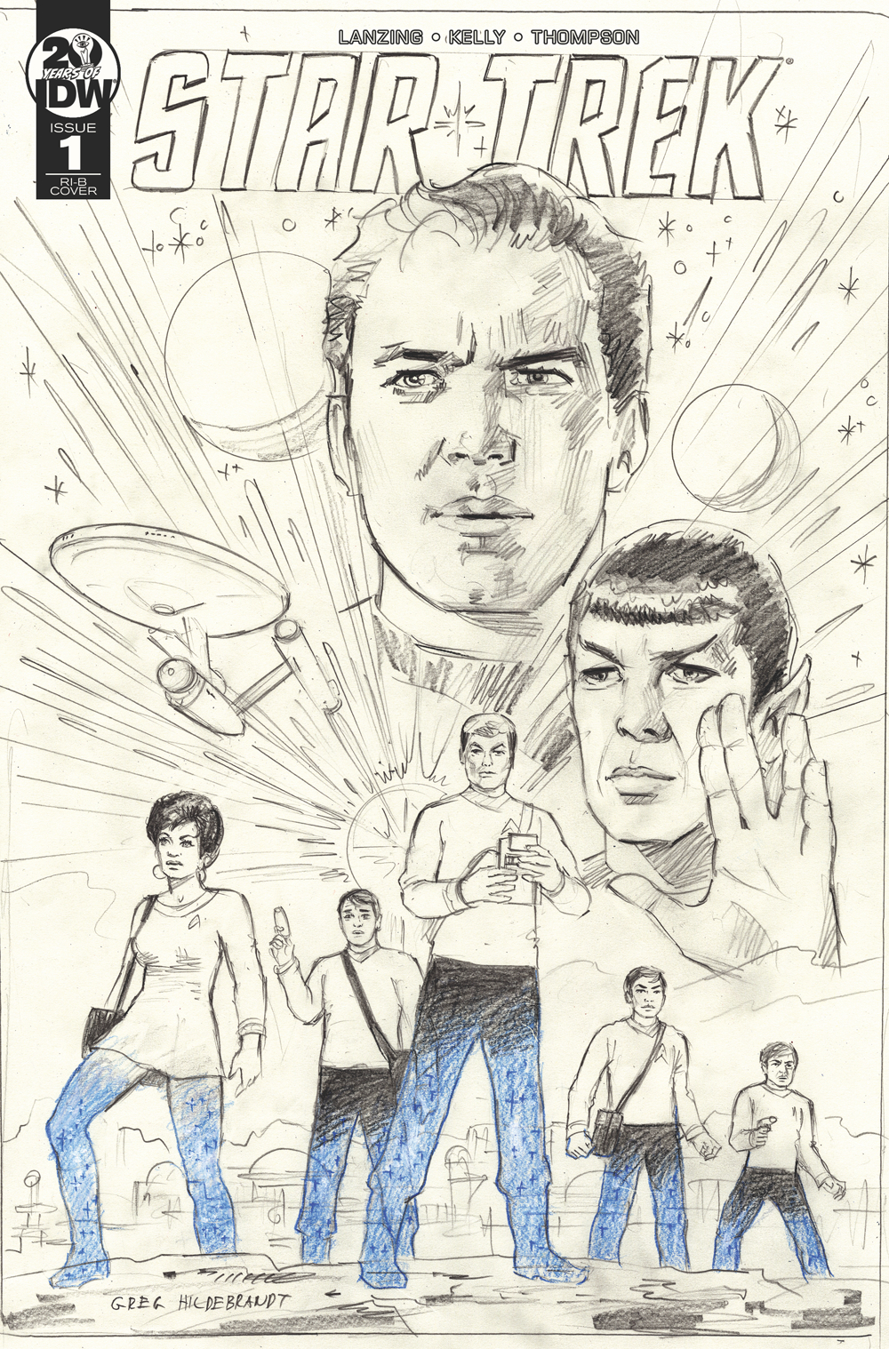 STAR TREK YEAR FIVE #1 25 COPY INCV HILDABRANDT SKETCH