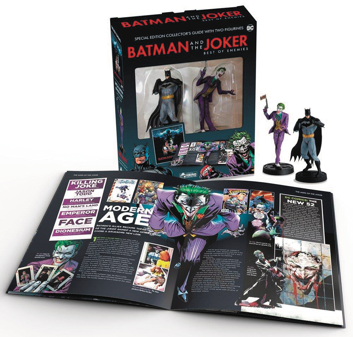 BATMAN AND JOKER HC W COLLECTIBLES