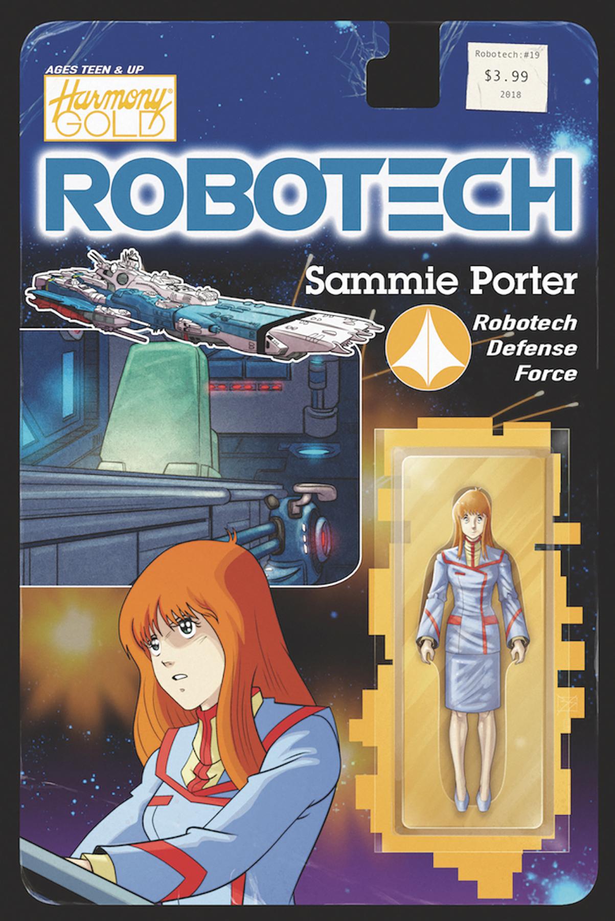 ROBOTECH #19 CVR B ACTION FIGURE VAR