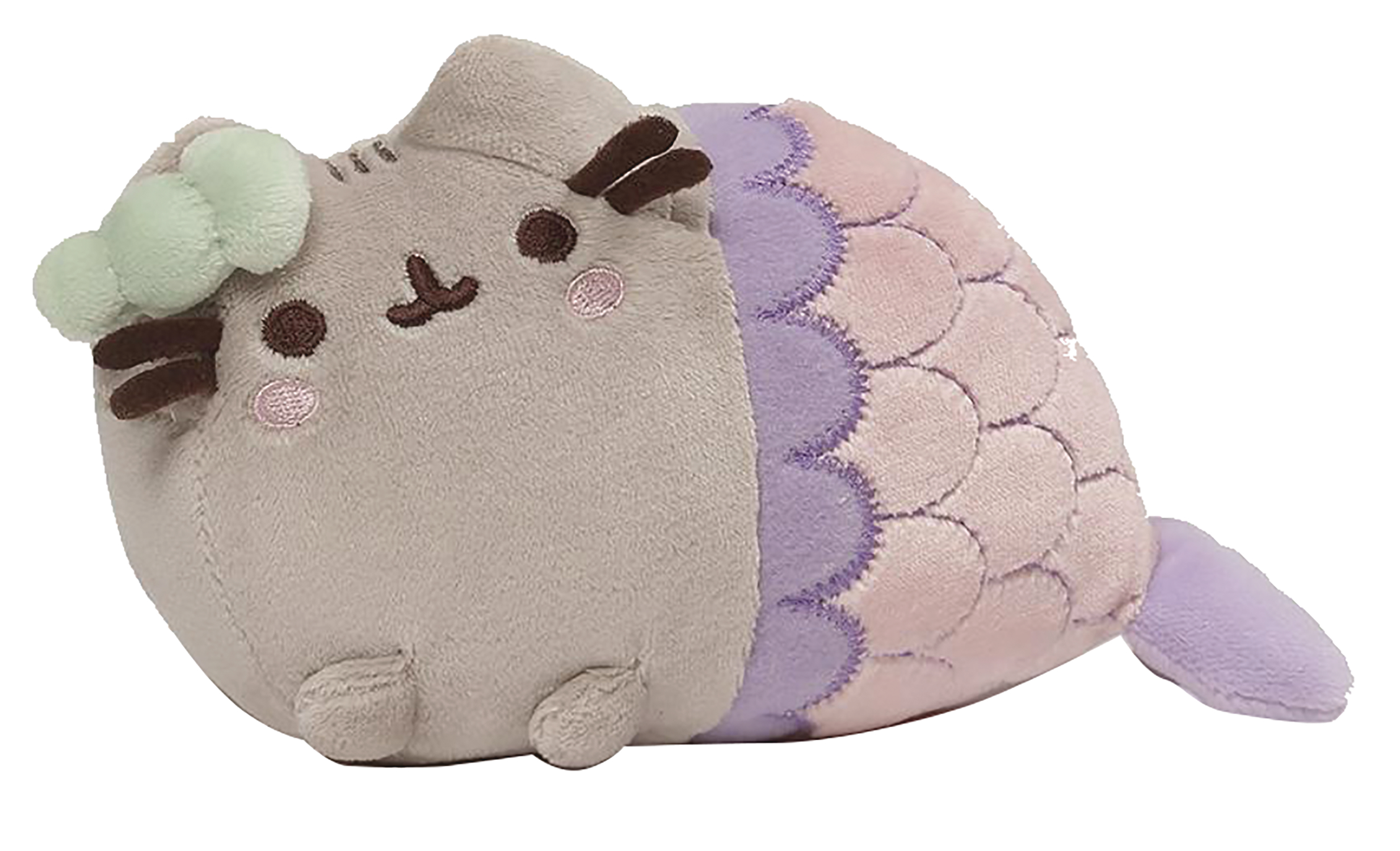 PUSHEEN MERMAID WITH SPIRAL SHELL 7 IN PLUSH