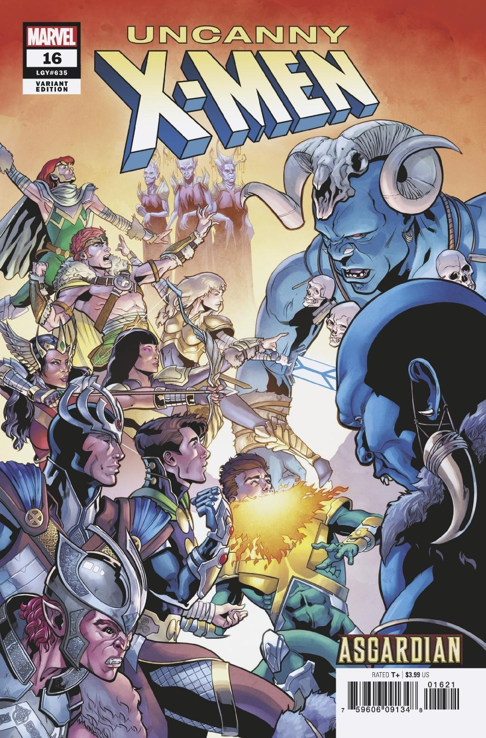 UNCANNY X-MEN #16 SLINEY ASGARDIAN VAR