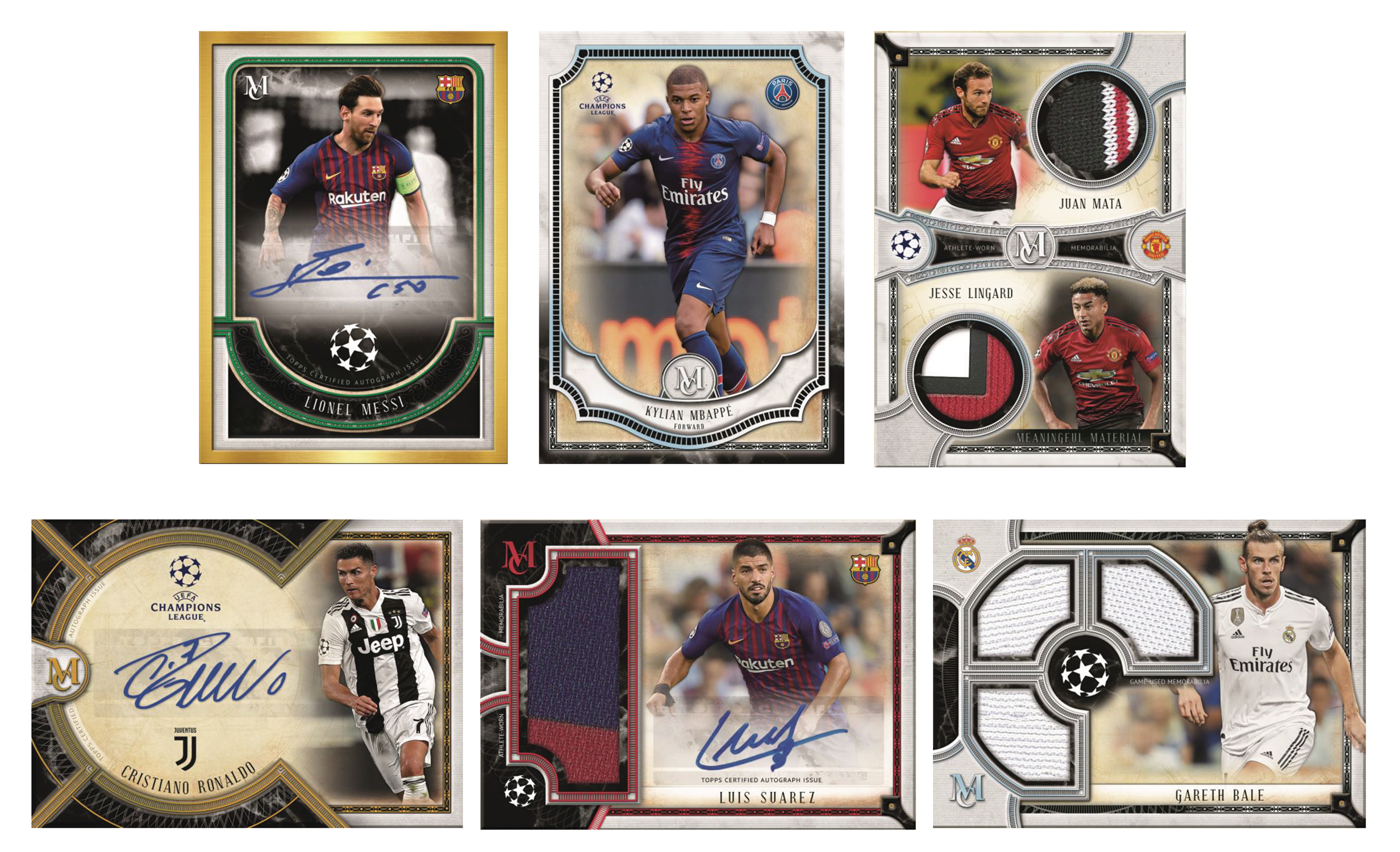 TOPPS 2019 MUSEUM COLL UEFA CHAMPIONS LEAGUE T/C BOX  (