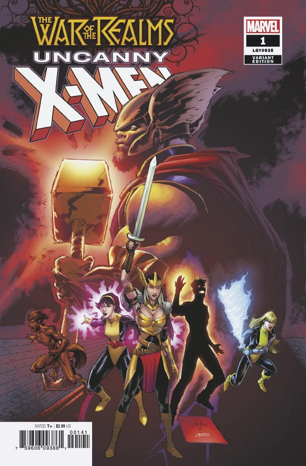 WAR OF REALMS UNCANNY X-MEN #1 (OF 3) PORTACIO VAR WR
