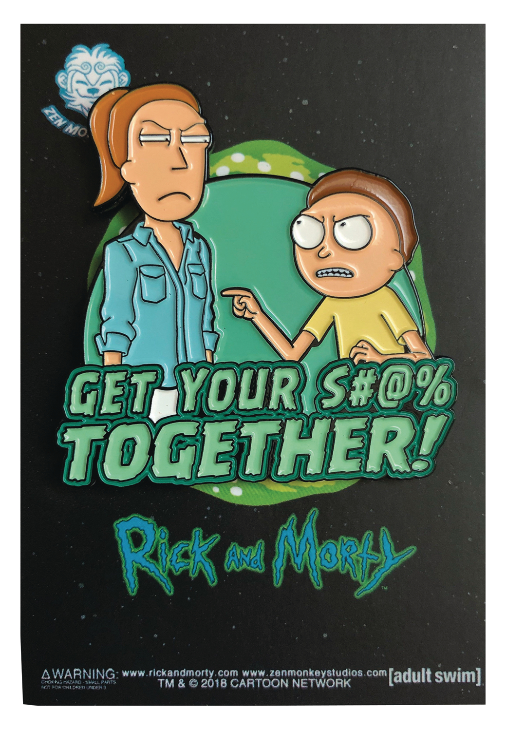 RICK AND MORTY GET IT TOGETHER PIN
