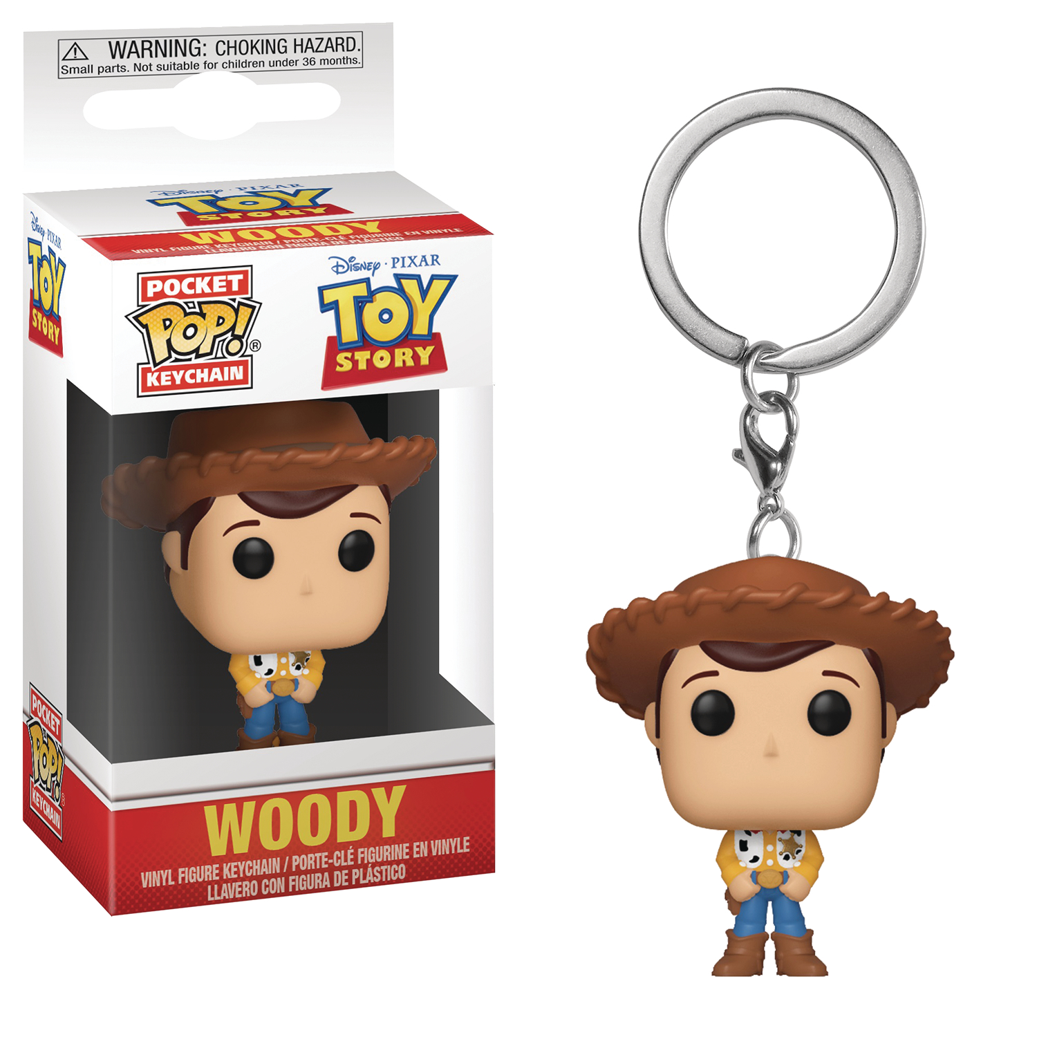 POCKET POP TOY STORY WOODY FIG KEYCHAIN