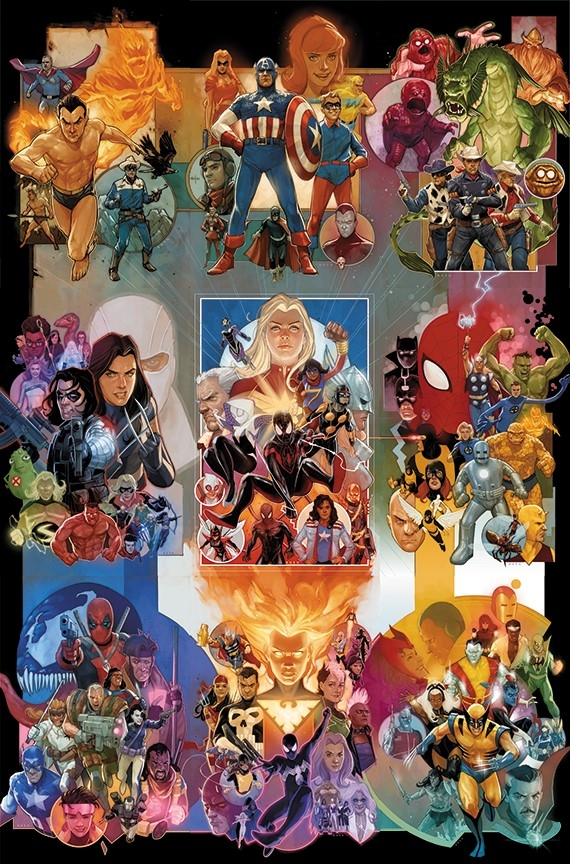 MARVELS 80TH BY PHIL NOTO POSTER