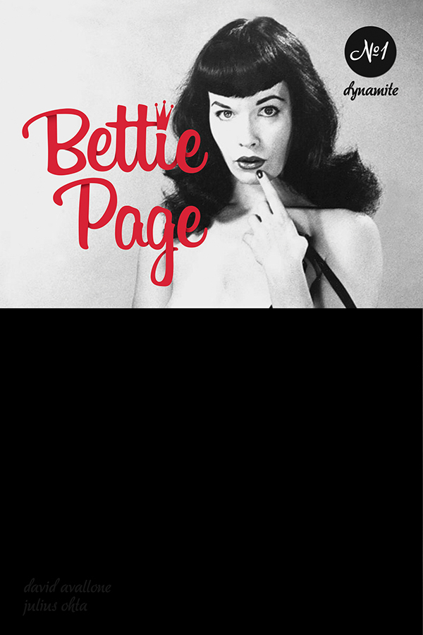 BETTIE PAGE UNBOUND #1 BLACK BAG PHOTO CVR (MR)