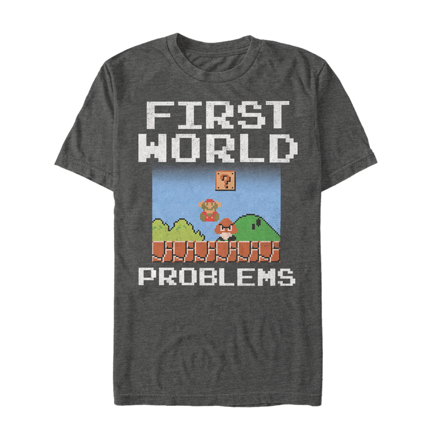 SUPER MARIO FIRST WORLD PROBLEMS T/S MED