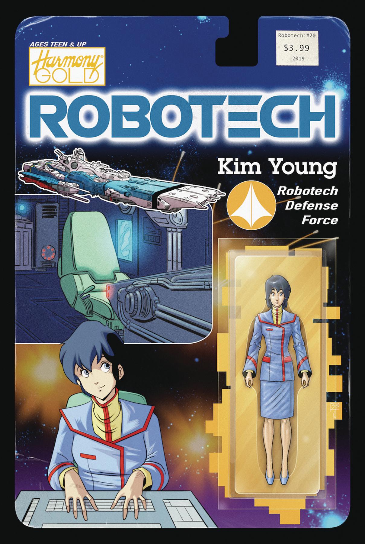 ROBOTECH #20 CVR B ACTION FIGURE VAR