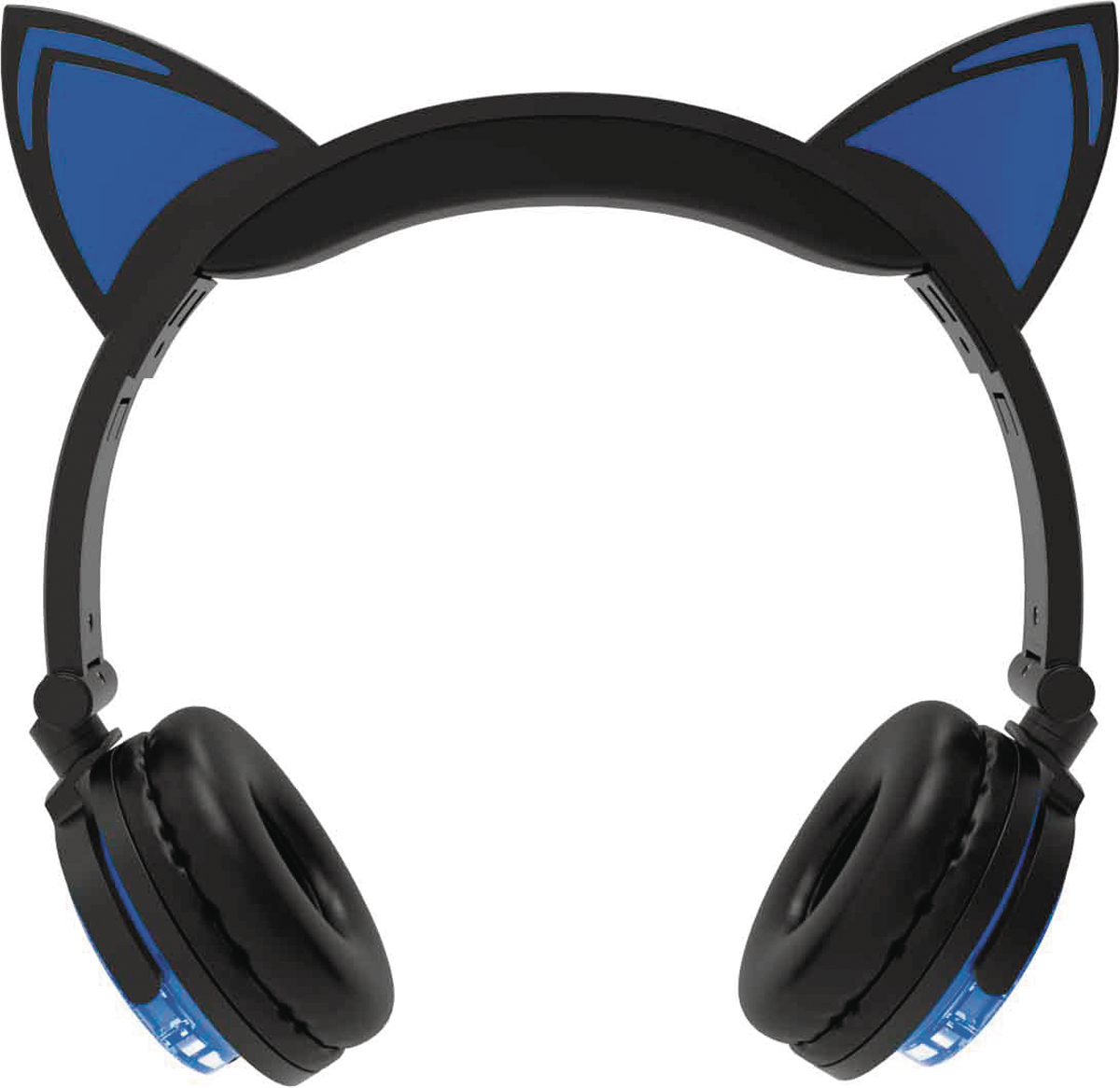 HYPE WIRELESS LED CAT EAR HEADPHONES BLUE