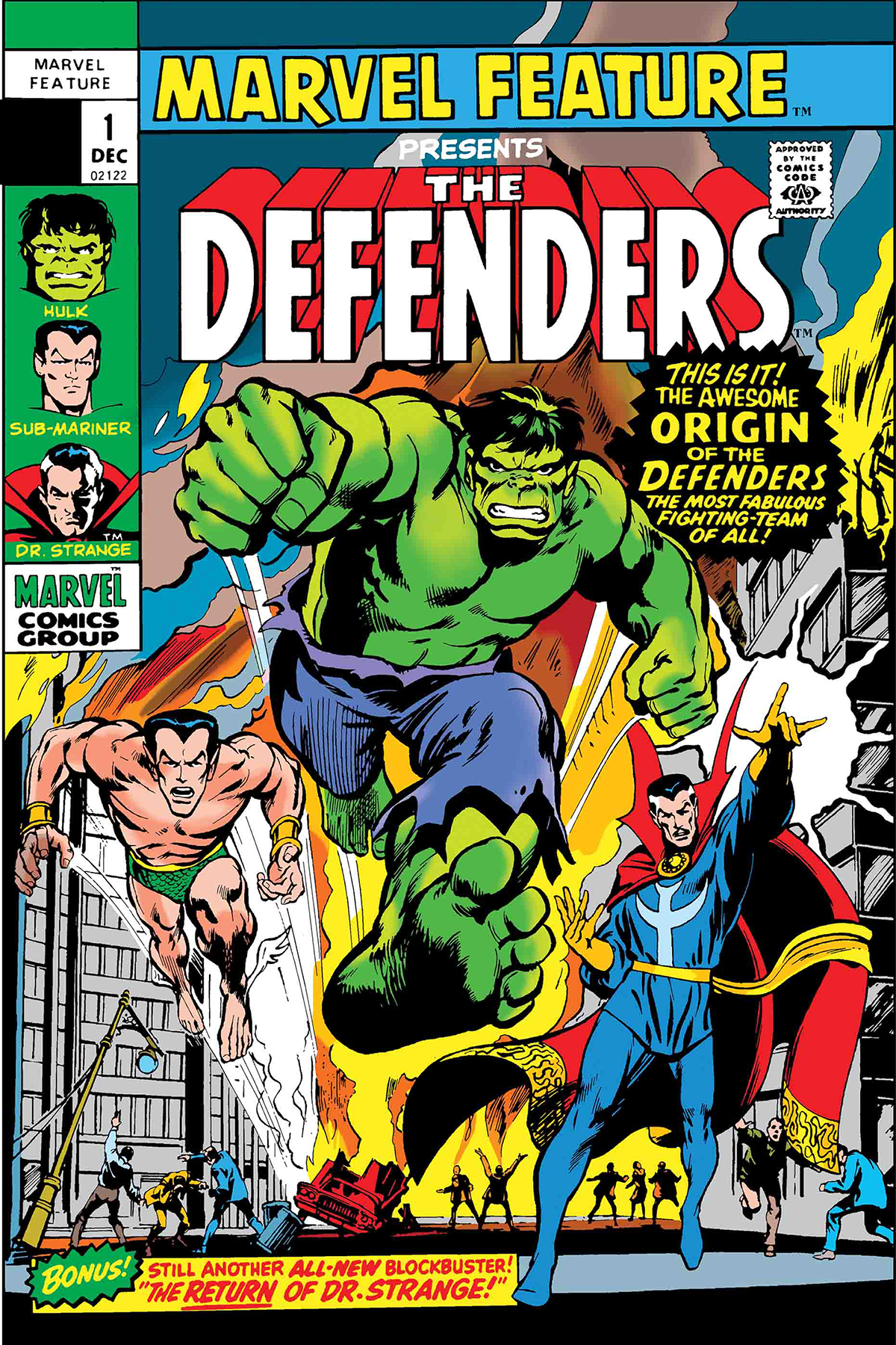 DEFENDERS MARVEL FEATURE #1 FACSIMILE EDITION