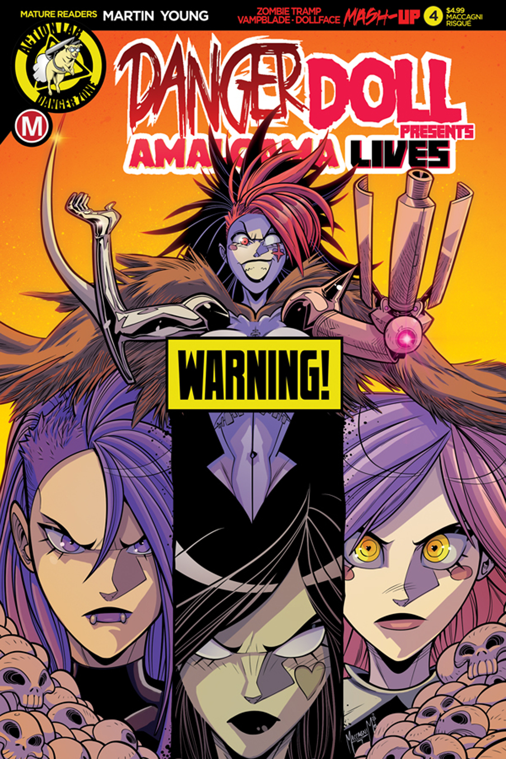 DANGER DOLL SQUAD PRESENTS AMALGAMA LIVES #4 CVR D MACCAGNI