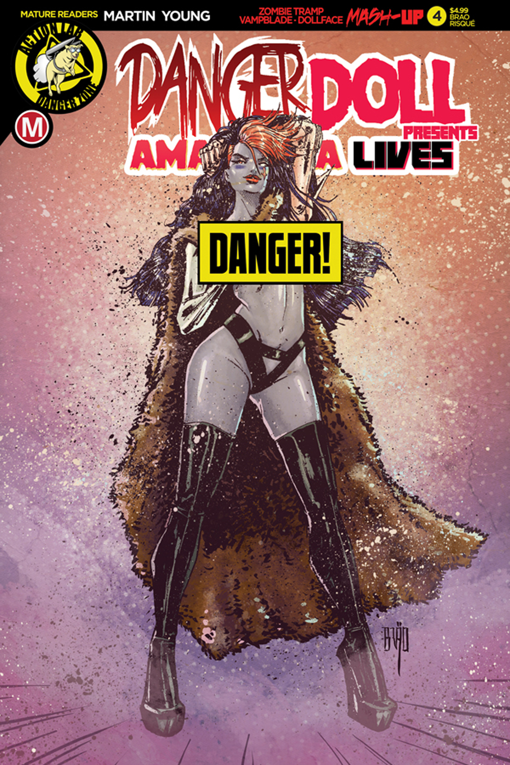 DANGER DOLL SQUAD PRESENTS AMALGAMA LIVES #4 CVR F ACTION FI