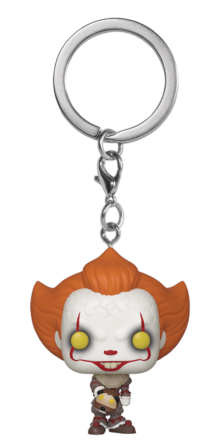 POCKET POP IT CHAPTER 2 PENNYWISE W/ BEAVER HAT KEYCHAIN