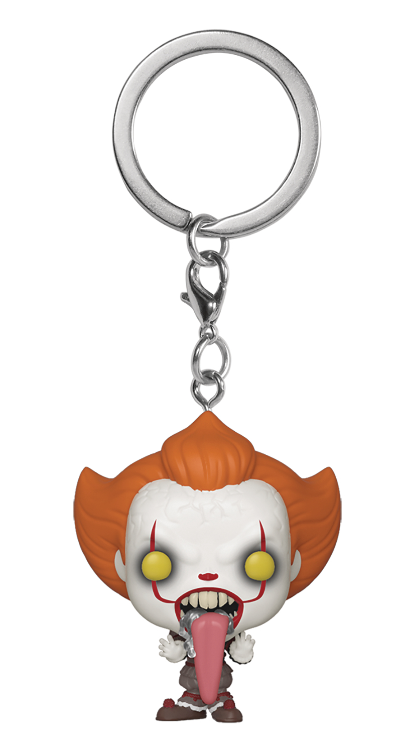 POCKET POP IT CHAPTER 2 PENNYWISE W/ DOG TONGUE KEYCHAIN