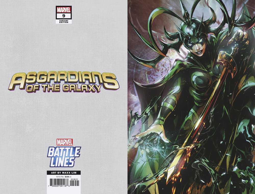 ASGARDIANS OF THE GALAXY #9 MAXX LIM MARVEL BATTLE LINES VAR