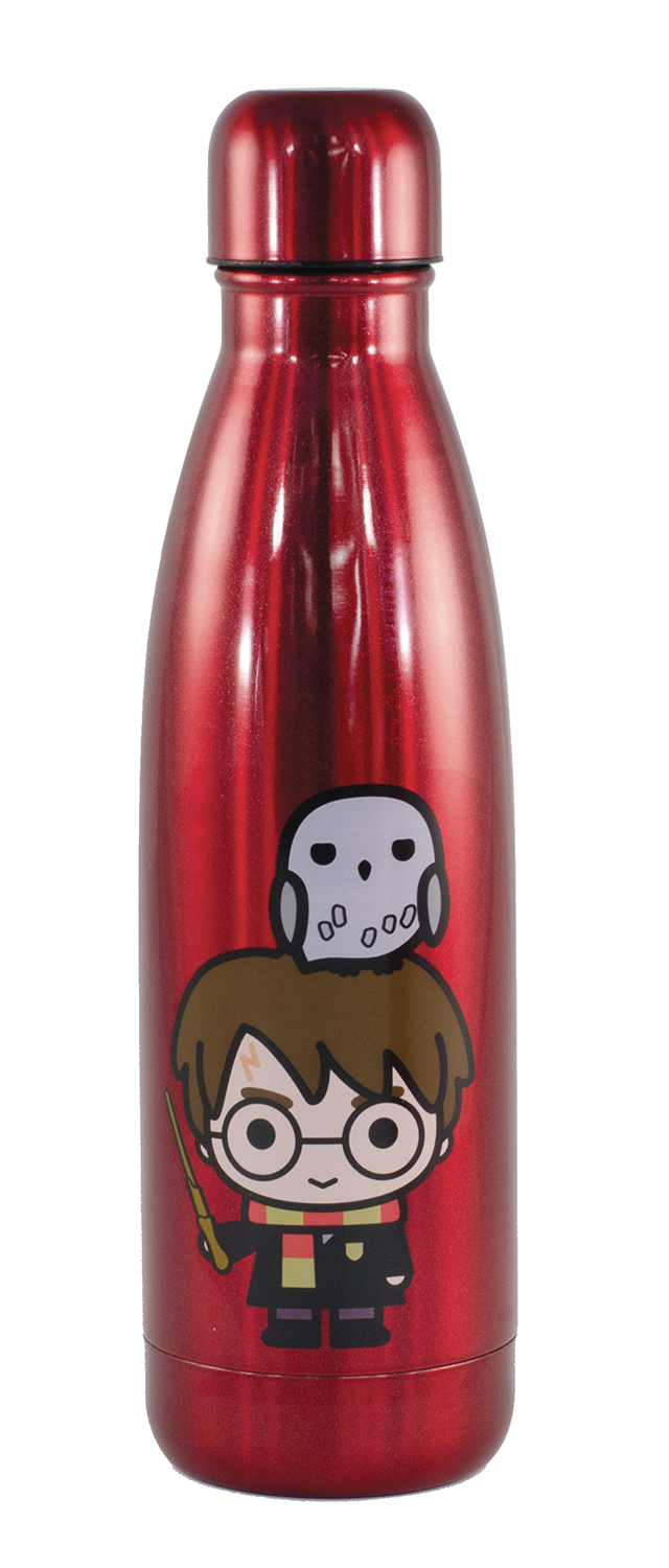 HARRY POTTER 500ML RED STAINLESS STEEL BOTTLE (DEC189001) (C
