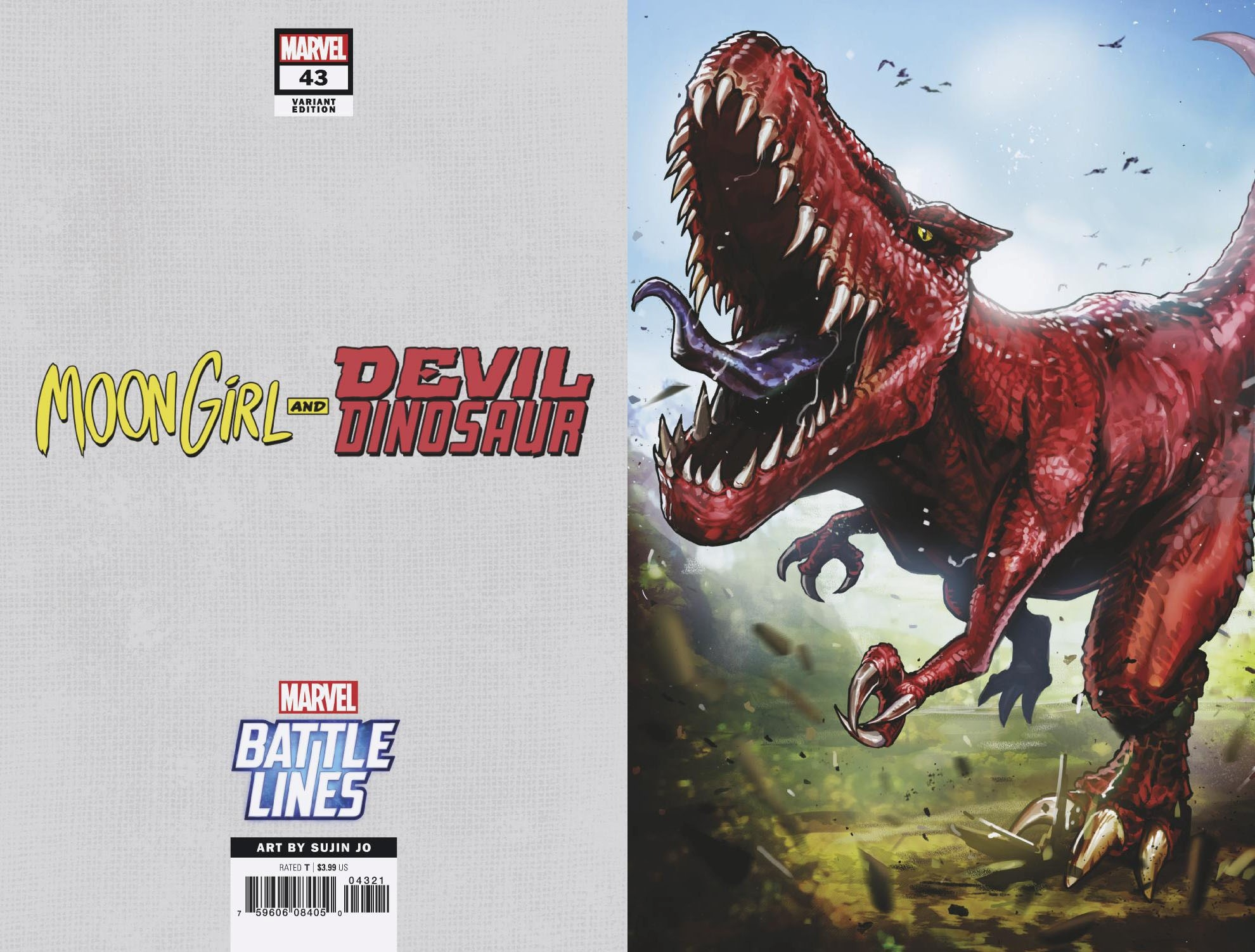 MOON GIRL AND DEVIL DINOSAUR #43 SUJIN JO MARVEL BATTLE LINE