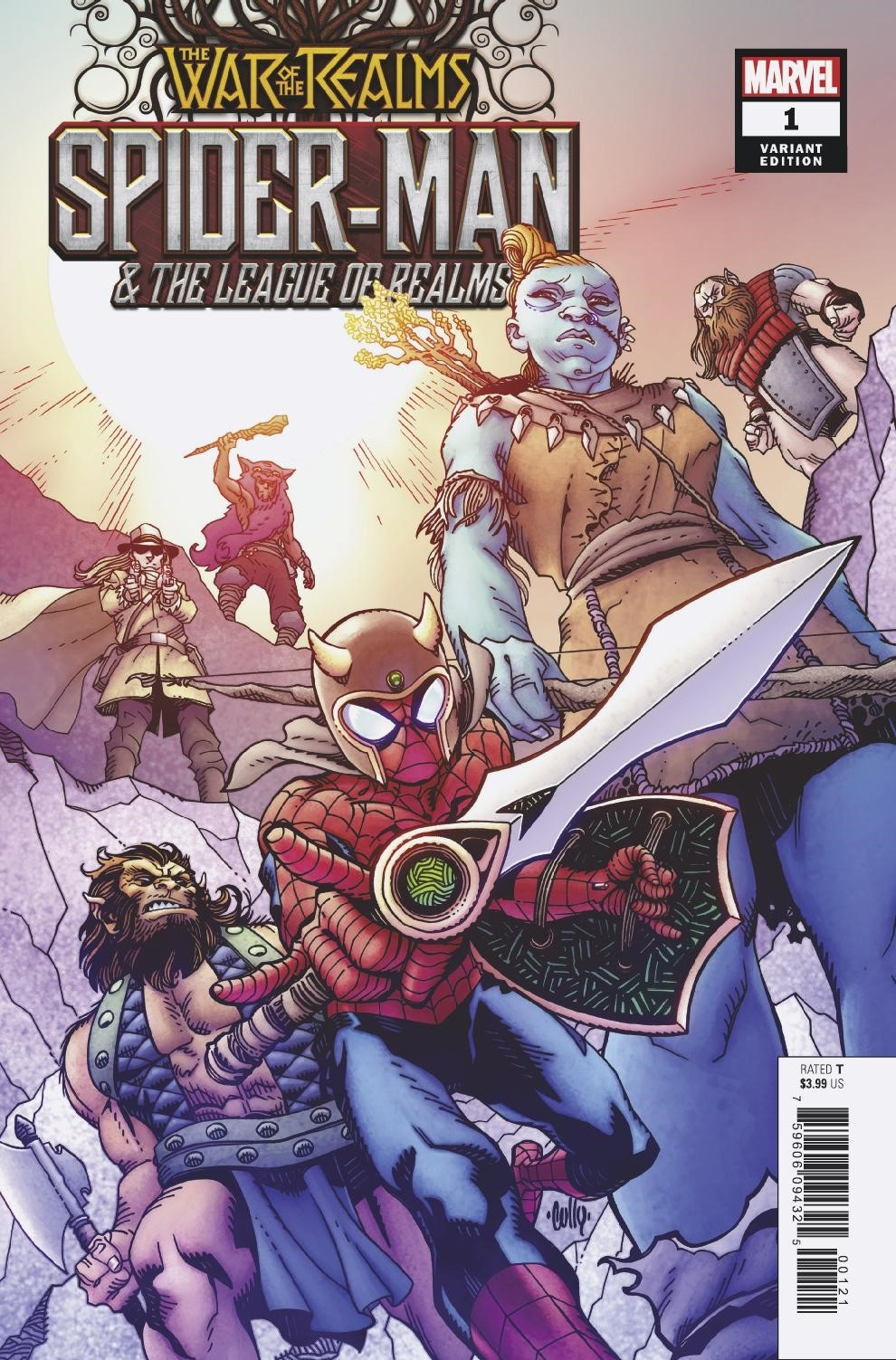 WAR OF REALMS SPIDER-MAN & LEAGUE OF REALMS #1 (OF 3) HAMNER