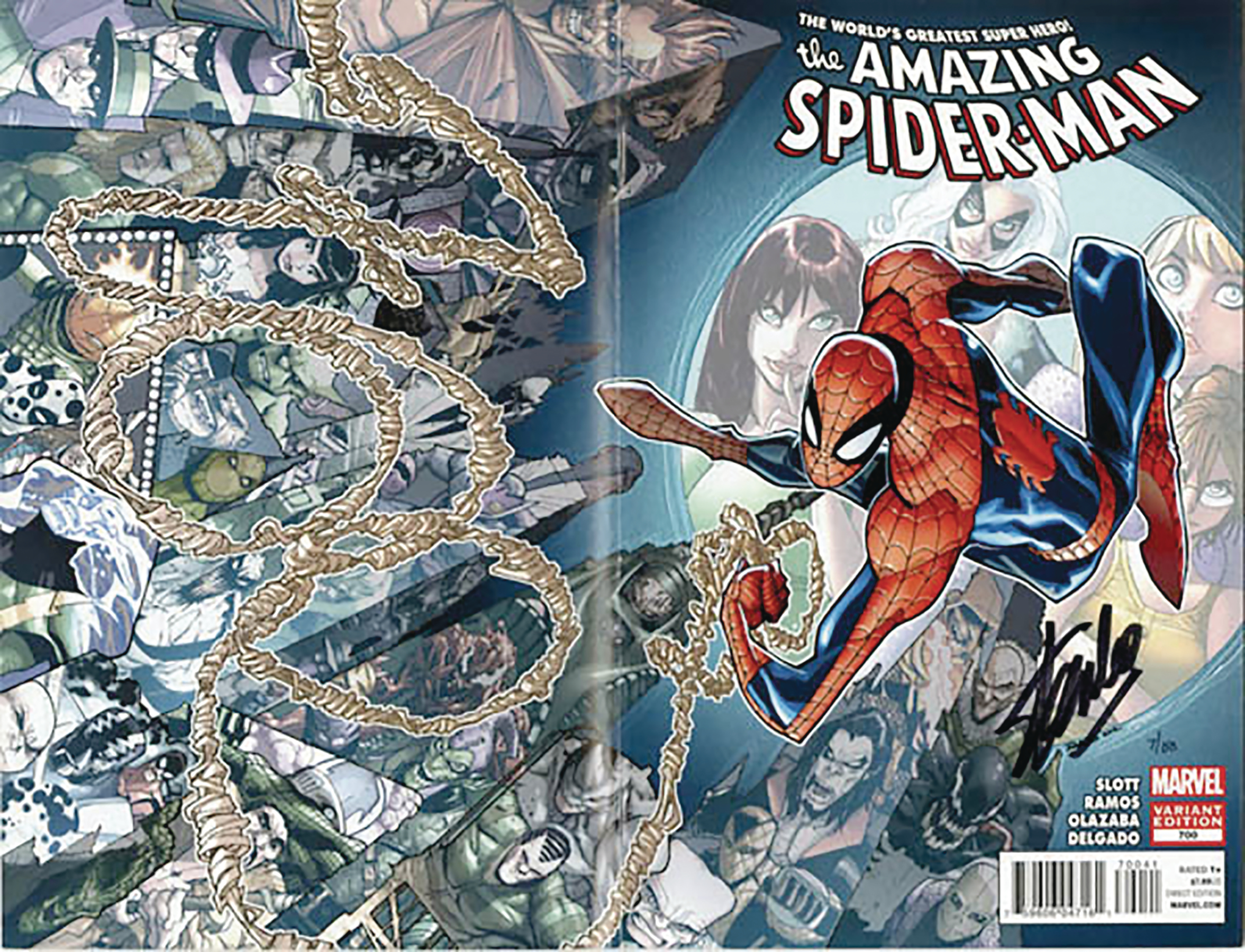 DF AMAZING SPIDER-MAN #700 SGN STAN LEE