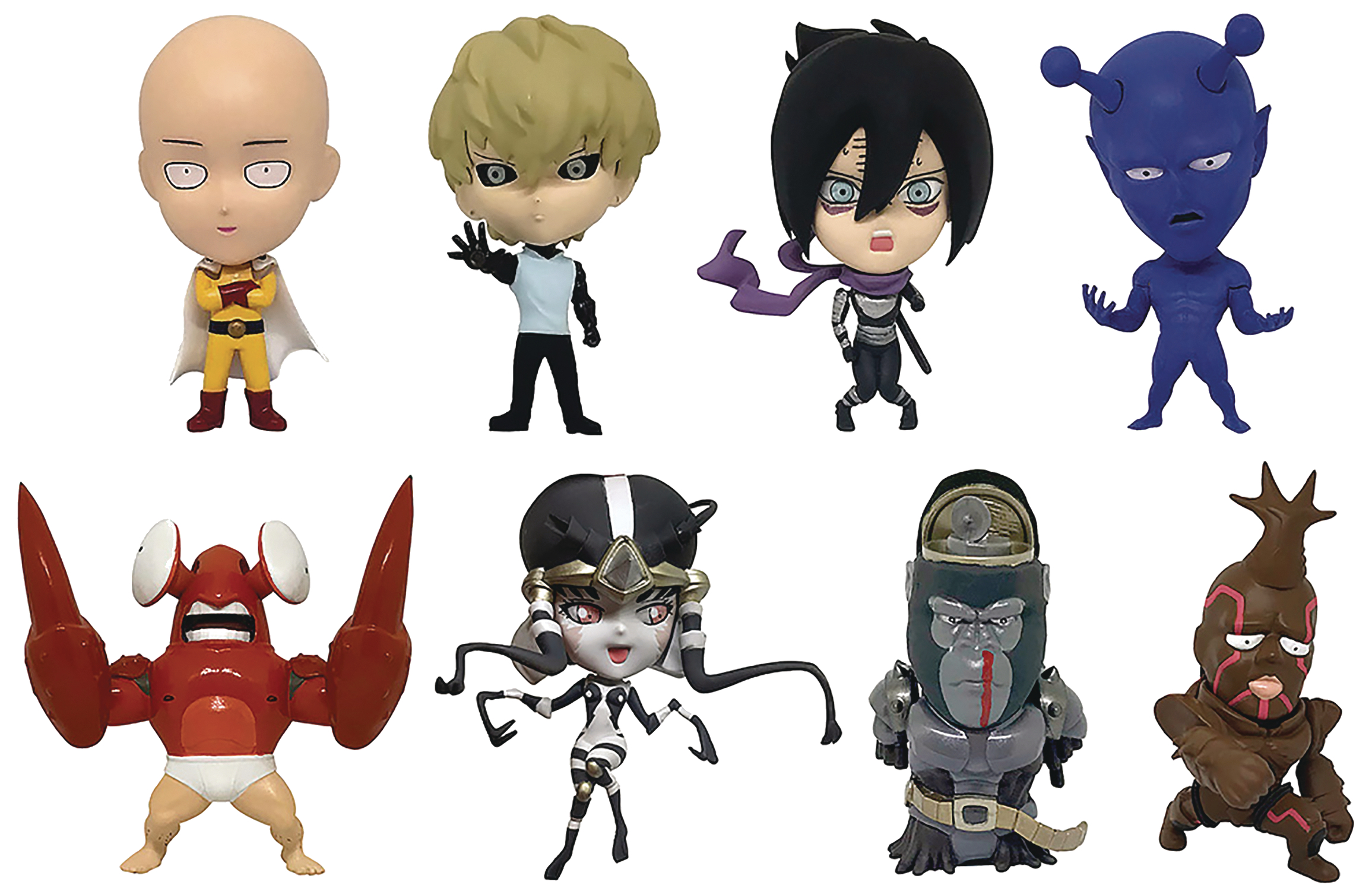 ONE PUNCH MAN VOL 1 16D COLL FIG 8PC BMB DS