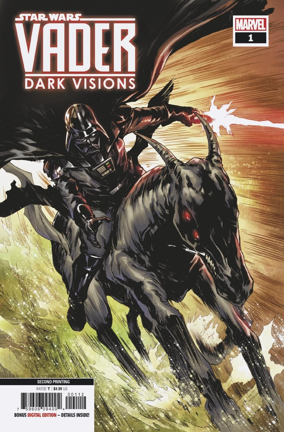 STAR WARS VADER DARK VISIONS #1 (OF 5) 2ND PTG VILLANELLI VA