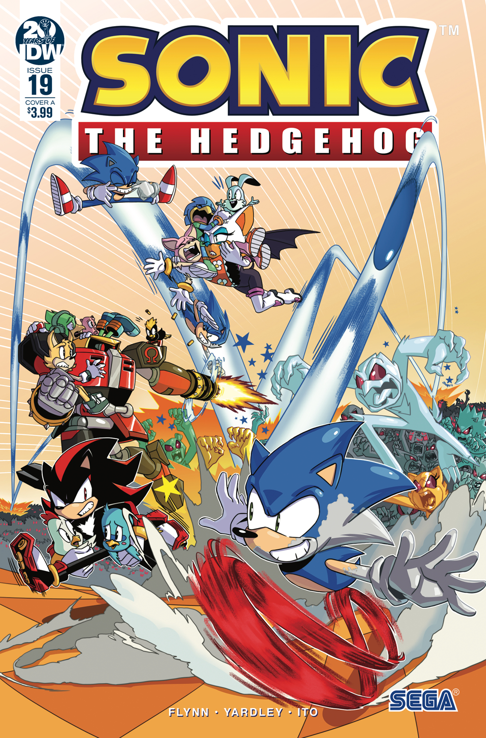 SONIC THE HEDGEHOG #19 CVR A JAMPOLE