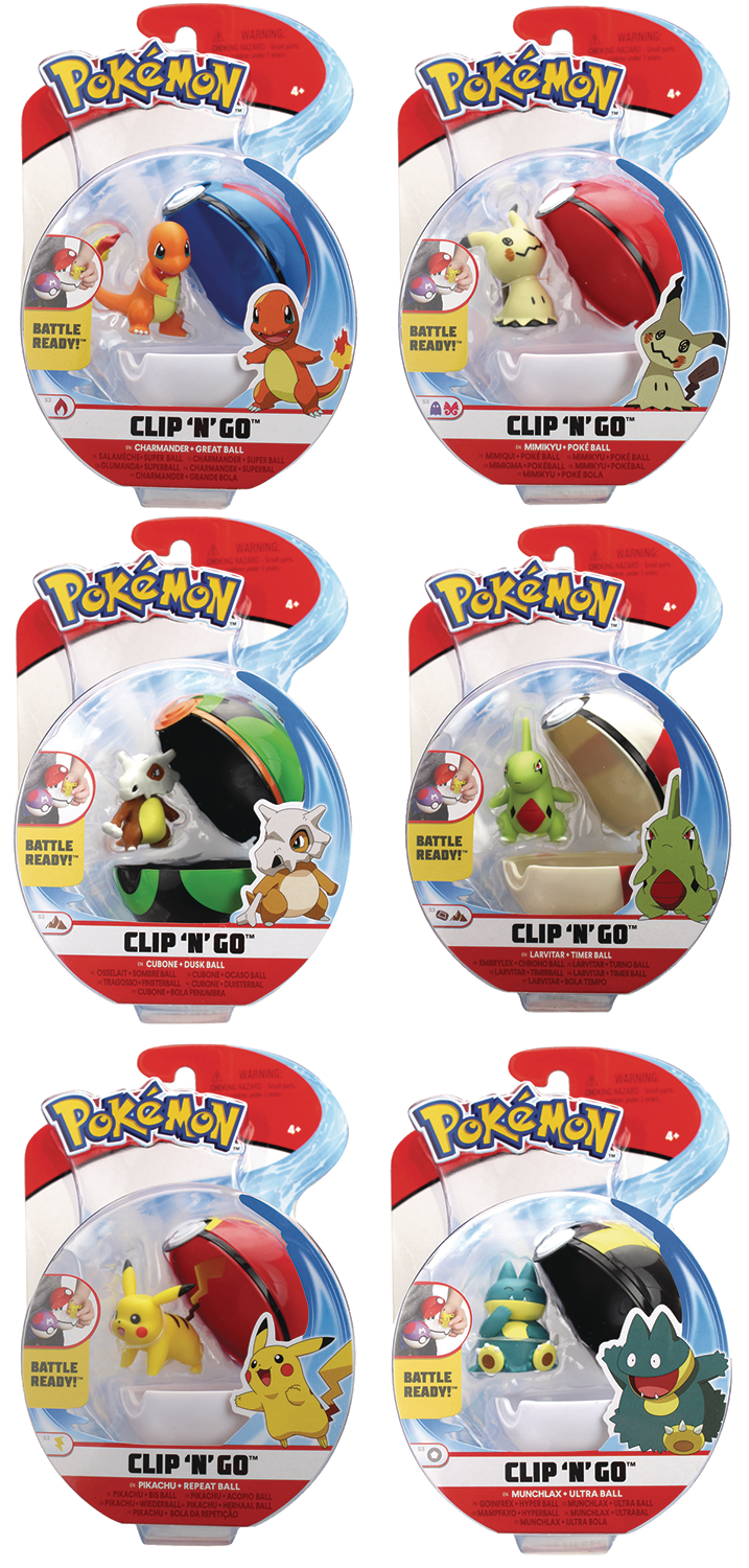 PIKACHU MIMIKYU POKEMON CLIP /'N/' GO BELT WITH POKE BALL /& FIGURE WAVE 3