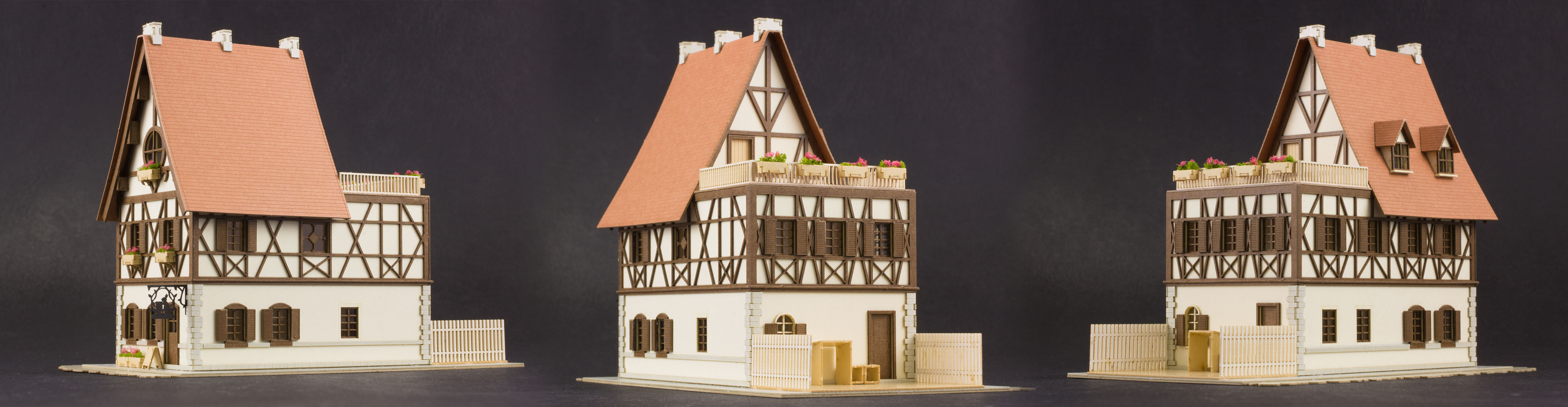 IS THE ORDER ANITECTURE RABBIT HOUSE 1/150 PAPER MDL KIT