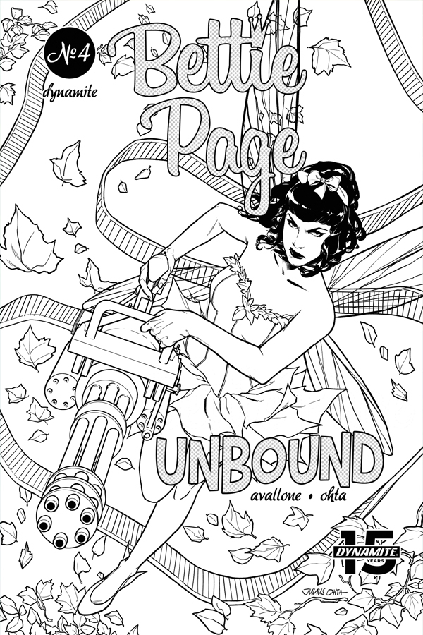BETTIE PAGE UNBOUND #4 40 COPY OHTA B&W INCV