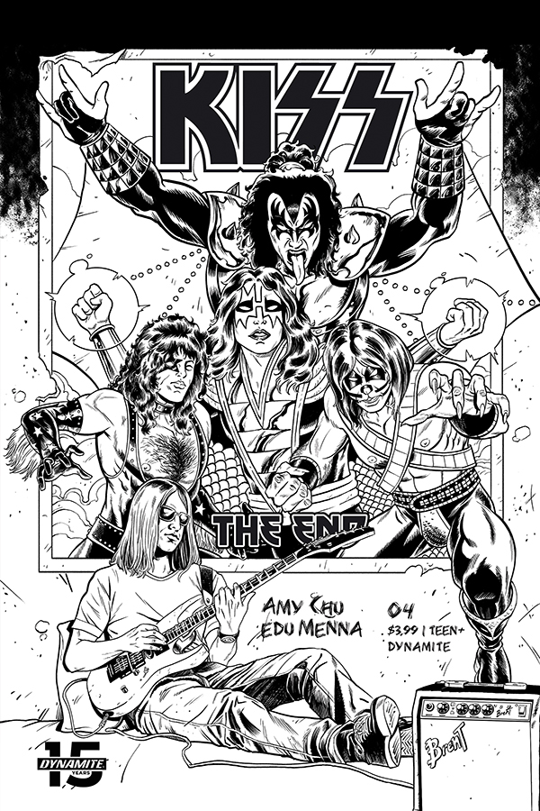 KISS END #4 20 COPY SCHOONOVER B&W INCV