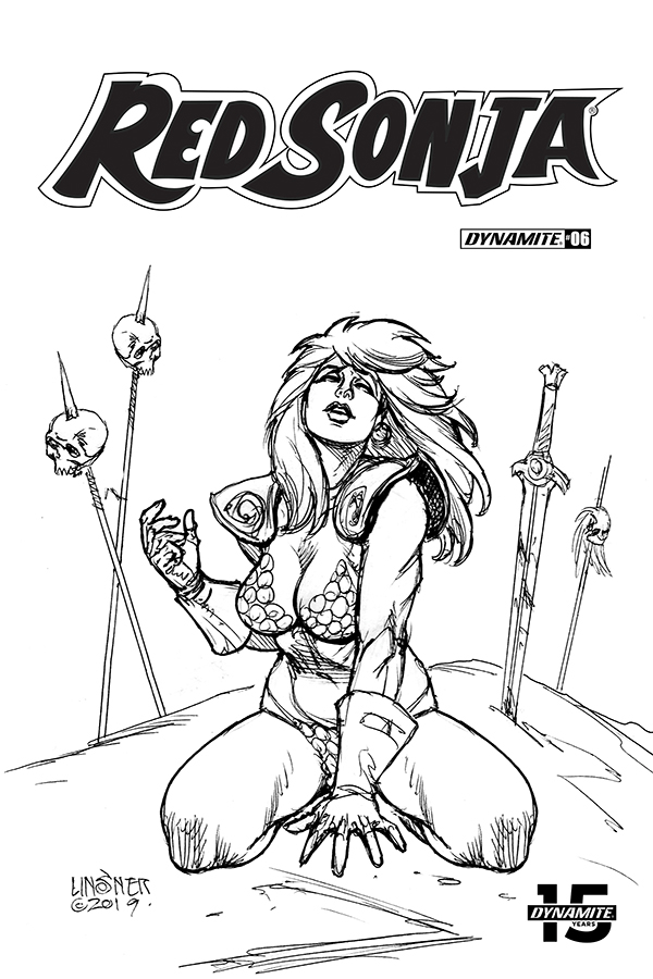 RED SONJA #6 30 COPY LINSNER B&W INCV