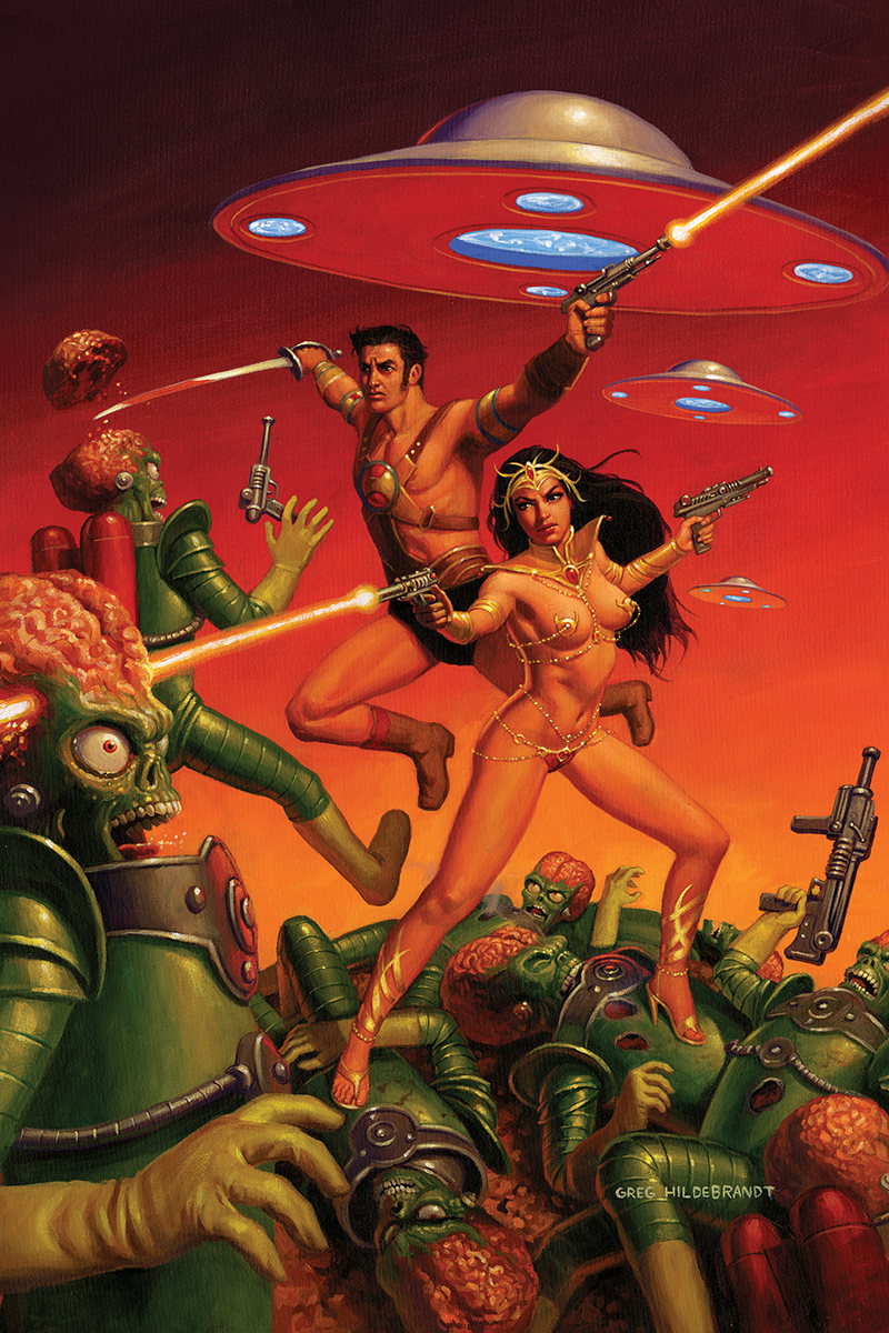 WARLORD OF MARS ATTACKS #2 40 COPY HILDEBRANDT VIRGIN INCV (