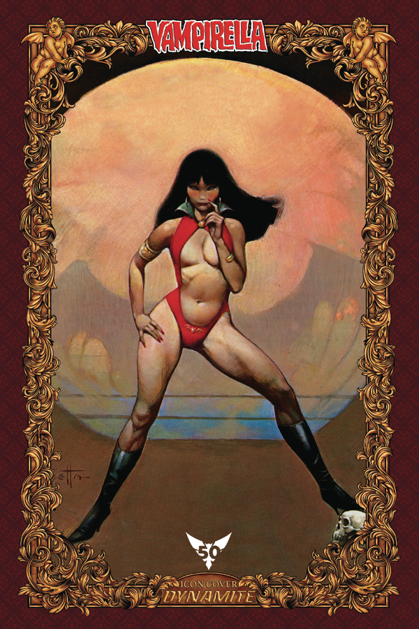 VAMPIRELLA #1 100 COPY FRAZETTA ICON INCV