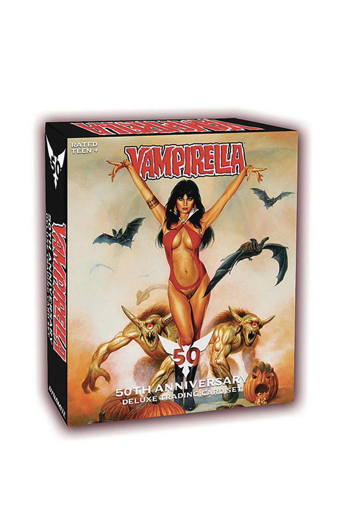 VAMPIRELLA 50TH ANN ULTRA TRADING CARDS BOX (12 PACKS)