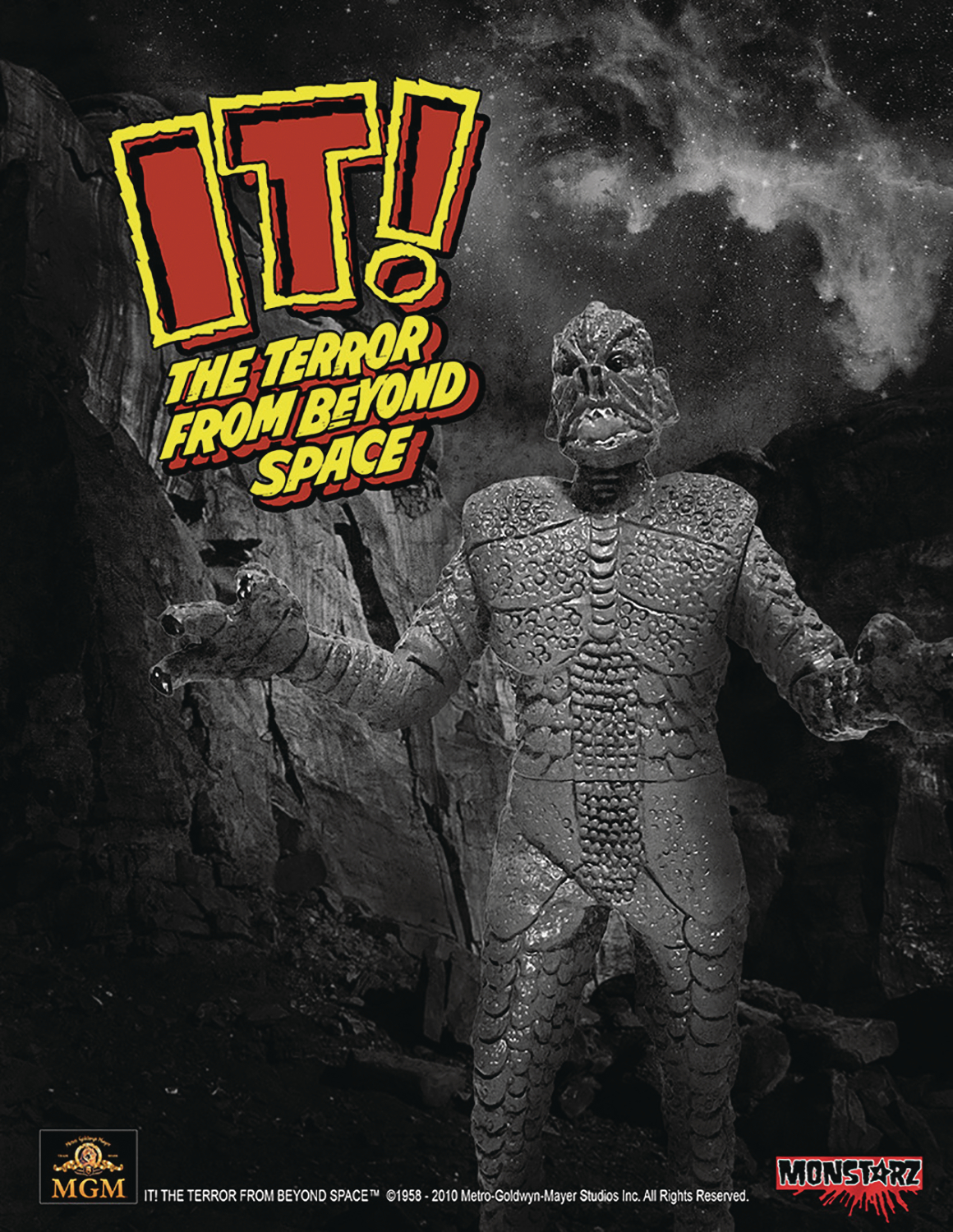 IT TERROR FROM BEYOND SPACE B&W 3-3/4IN RETRO AF