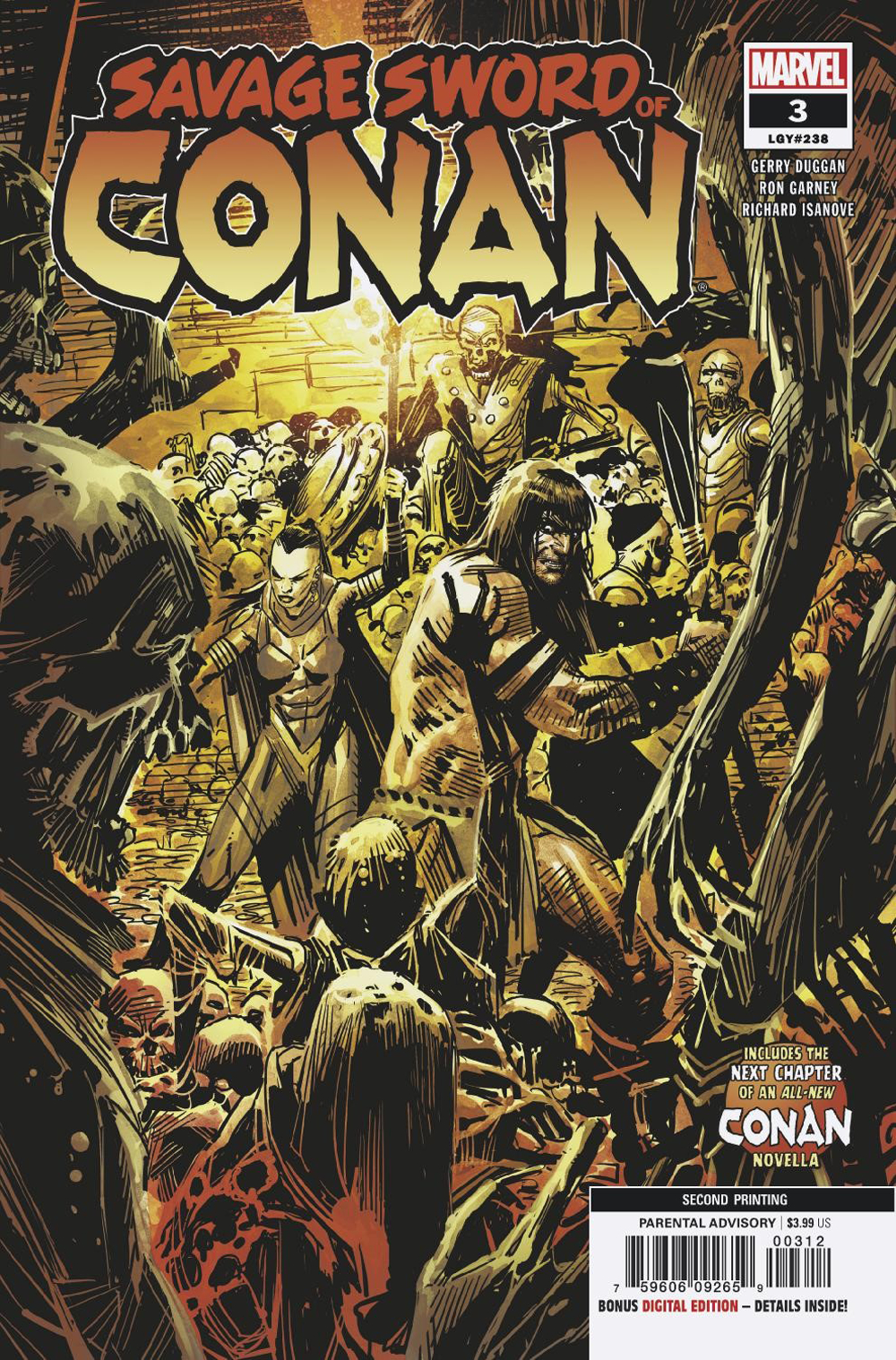 SAVAGE SWORD OF CONAN #3 2ND PTG GARNEY VAR