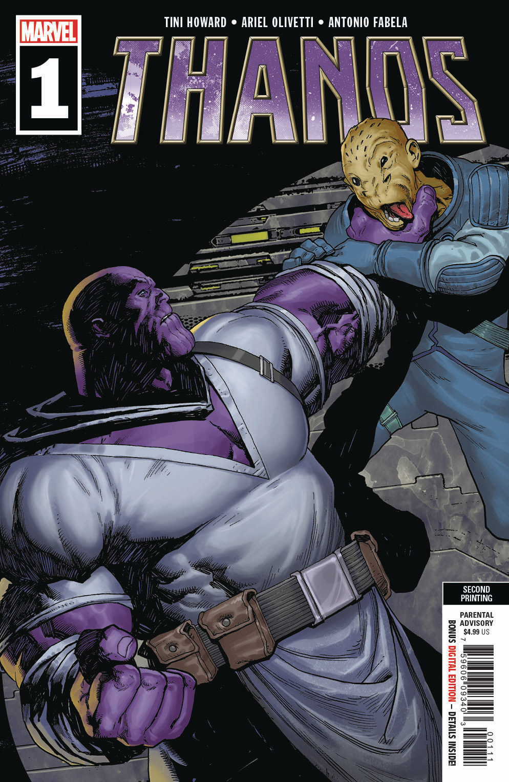 THANOS #1 (OF 6) 2ND PTG OLIVETTI VAR
