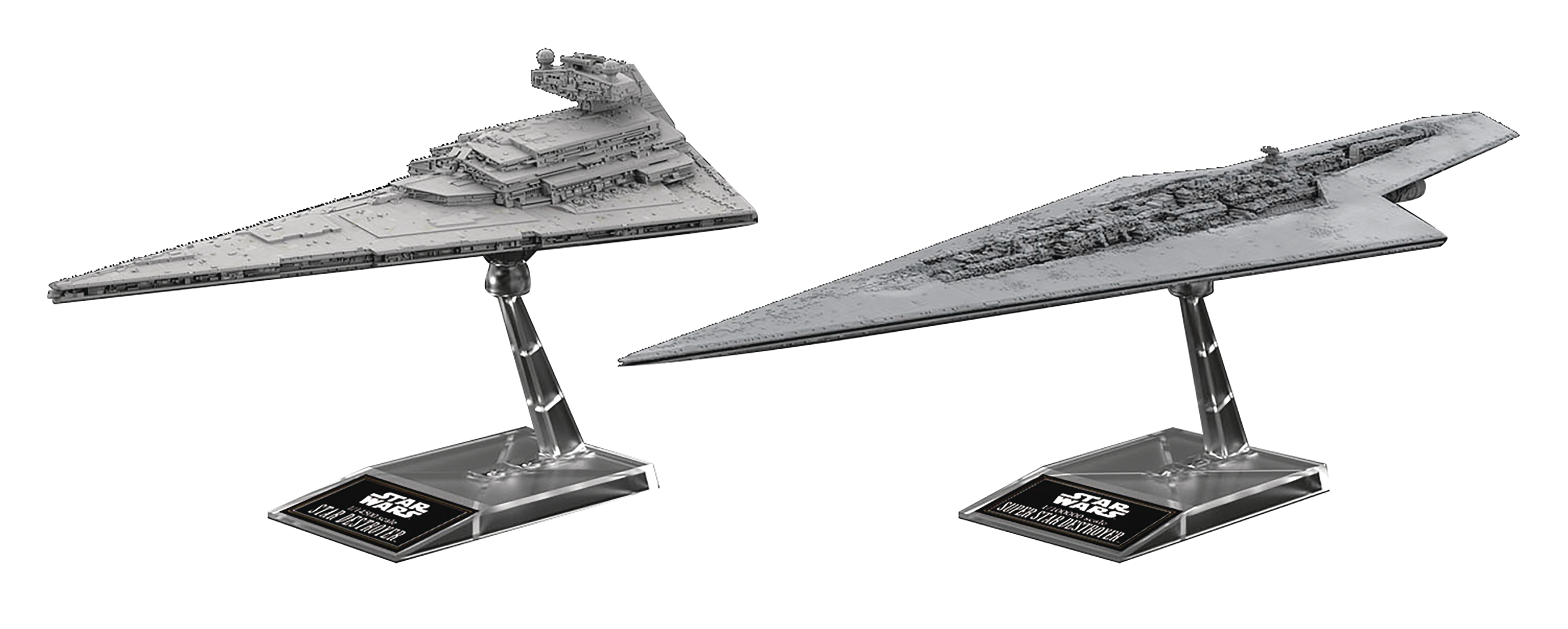 SW SUPER STAR DESTROYER & STAR DESTROYER VEHICLE MODEL 2PK (