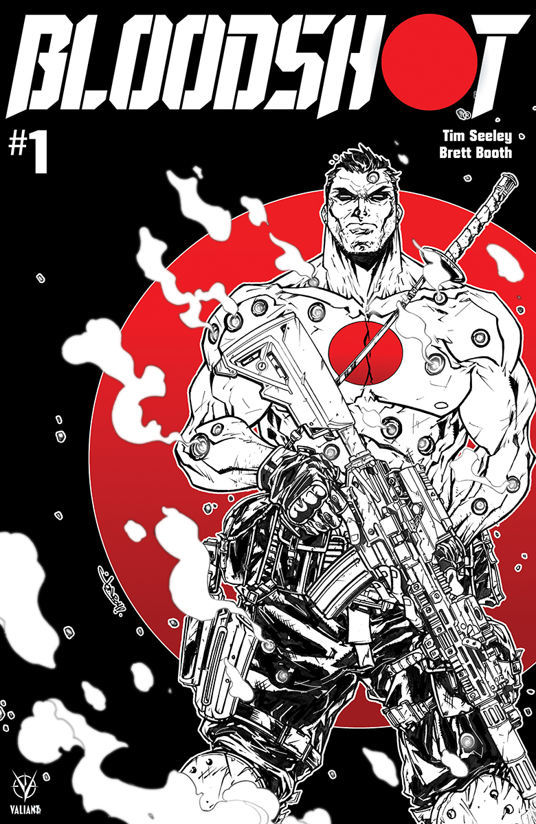 BLOODSHOT (2019) #1 CVR D B&W & RED MEYERS