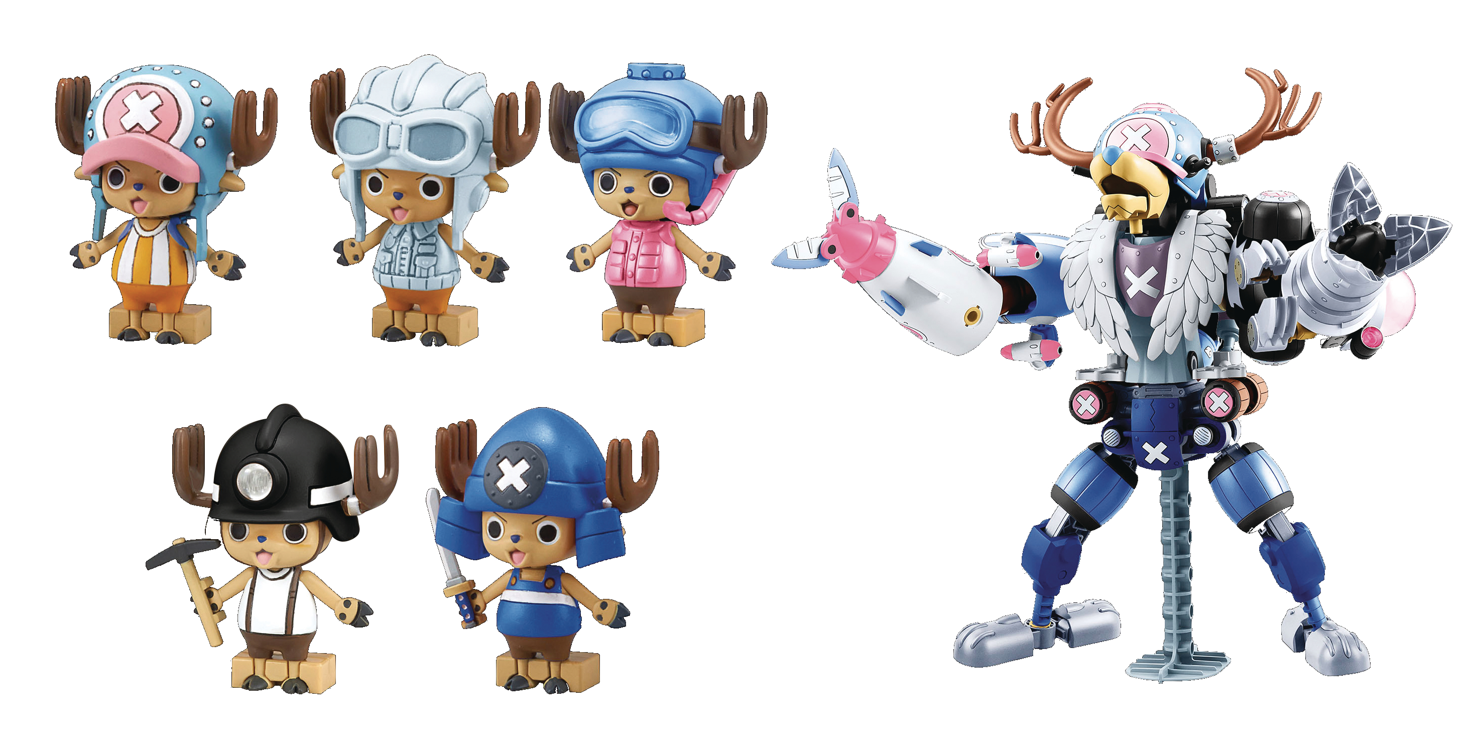 ONE PIECE CHOPPER ROBO ONE PIECE STAMPEDE VER MDL KIT SET (N