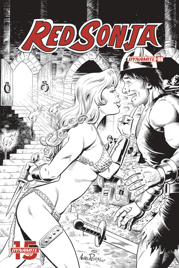 RED SONJA #8 50 COPY BOB Q SEDUCTION B&W INCV