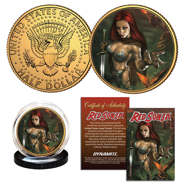 RED SONJA PARRILLO COLLECTIBLE COIN