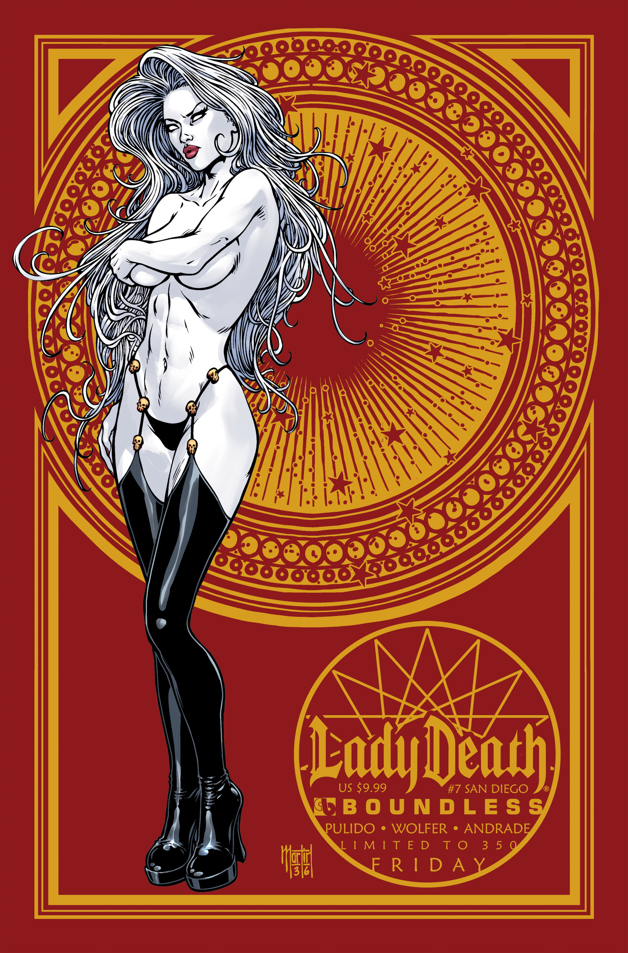 LADY DEATH (ONGOING) #7 SAN DIEGO FRIDAY (MR)