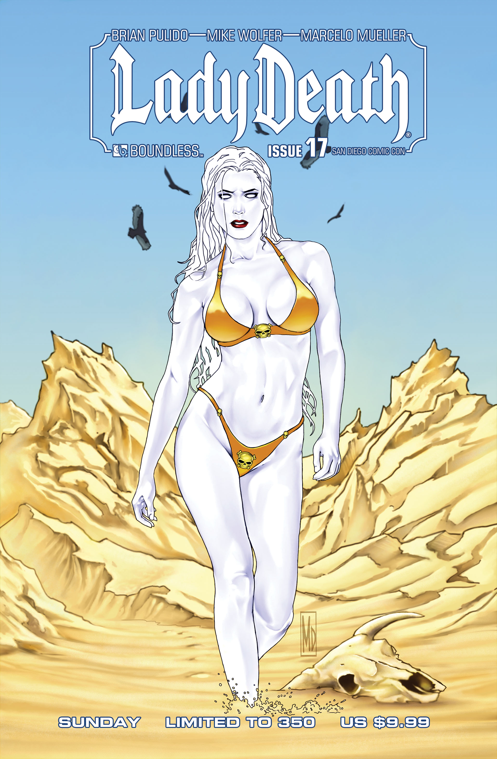 LADY DEATH (ONGOING) #17 SDCC SUN (MR)