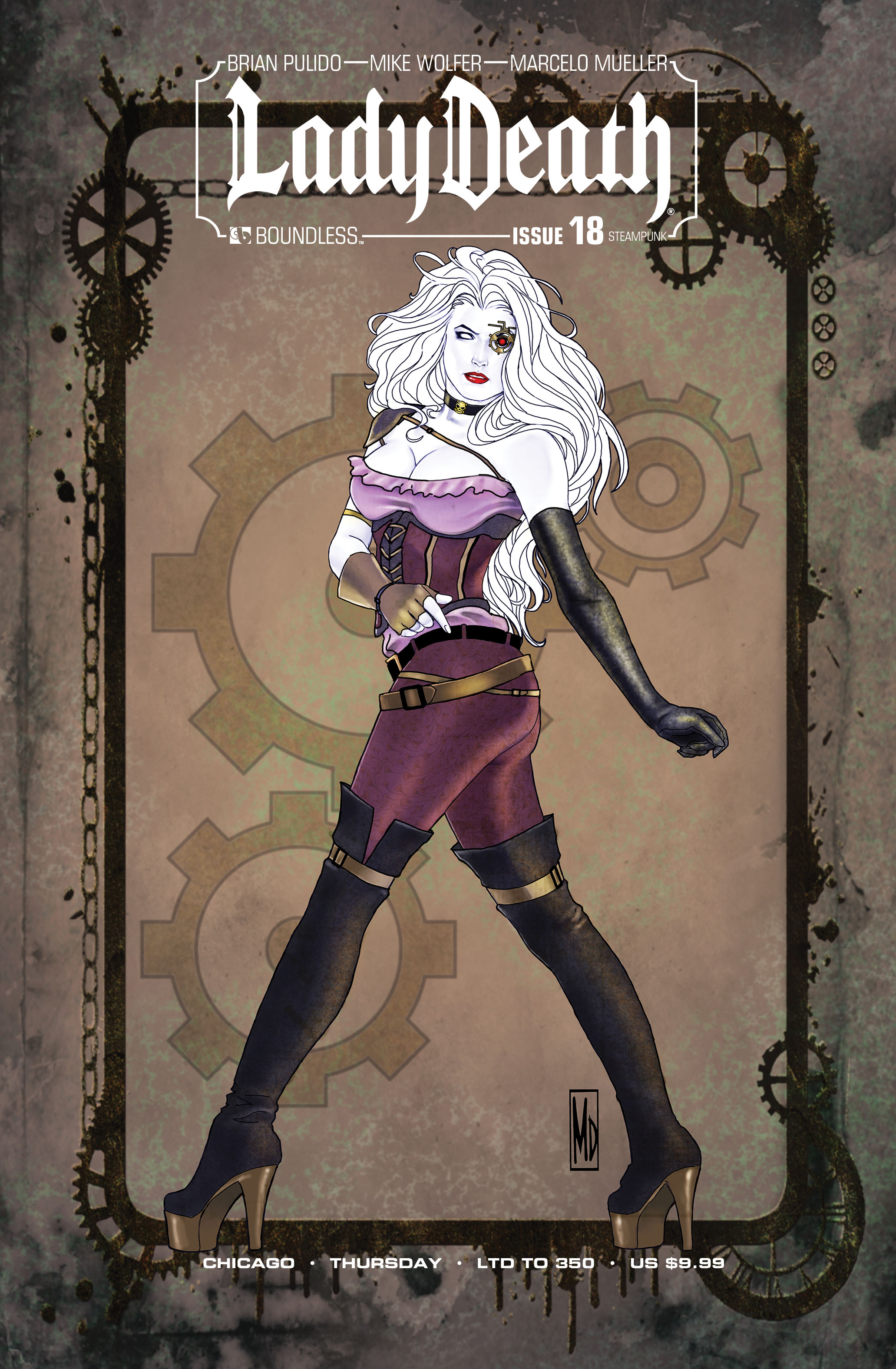 LADY DEATH (ONGOING) #18 CHICAGO STEAMPUNK THURSDAY (MR)