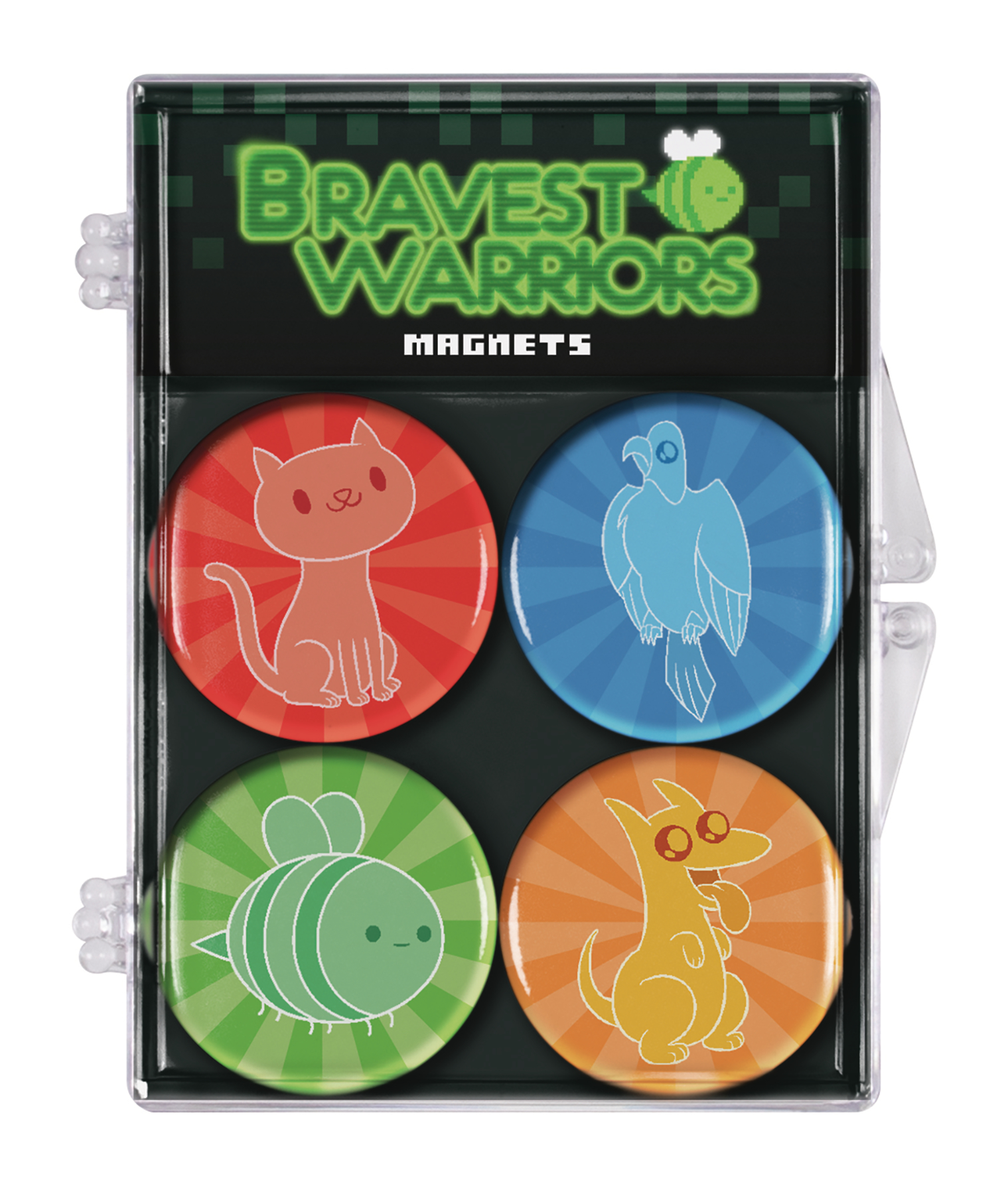BRAVEST WARRIORS 4 PACK MAGNET SET